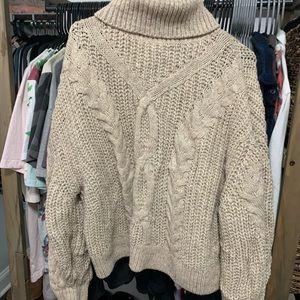 Beige H&M Turtle Neck Sweater
